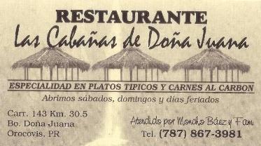 Restaurante Las Cabañas Doña Juana